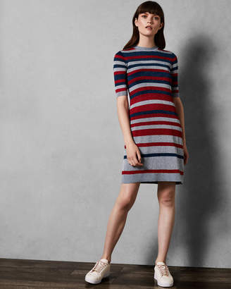 Ted Baker IONEY Lurex striped knit dress