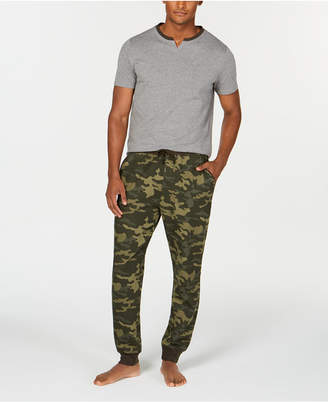 Bar III Men's Camo Pajama Set, Created for Macy's
