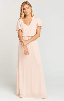 Show Me Your Mumu Michelle Maxi Dress ~ Dusty Blush Crisp