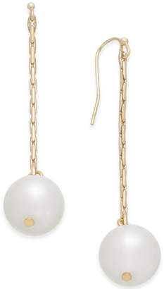 INC International Concepts I.N.C. Gold-Tone Imitation Pearl Linear Drop Earrings, Created for Macy's