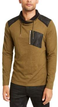 INC International Concepts Inc Men's Long-Sleeve Cowl Neck T-Shirt, Created for Macy's