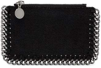 Stella McCartney black chain detail zipped cardholder