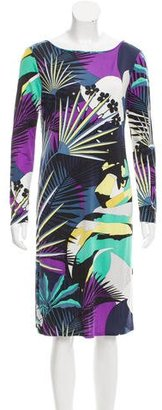 Emilio Pucci Silk Abstract Print Dress $195 thestylecure.com