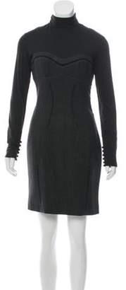 Antonio Berardi Virgin Wool-Blend Mini Dress Grey Virgin Wool-Blend Mini Dress