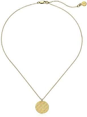 Michael Kors Etched Monogram Disc Pendant Necklace