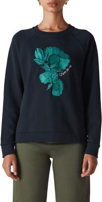 Whistles Floral Embroidered Sweatshirt