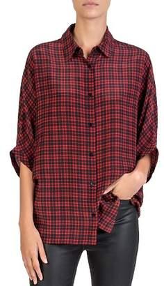 The Kooples Silk Check Shirt
