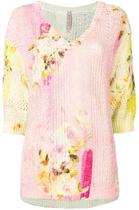 Antonio Marras floral print jumper