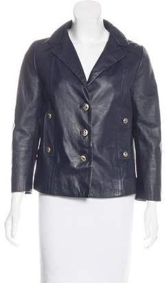 Philosophy di Alberta Ferretti Leather Moto Jacket
