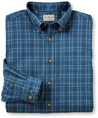 L.L. Bean L.L.Bean Wrinkle-Free Twill Sport Shirt, Traditional Fit Windowpane
