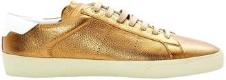 Saint Laurent Gold Leather Trainers