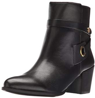 Anne Klein Women's Globalist Leather Ankle Bootie