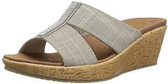 81e9ceb8745 at Amazon.com · Skechers Women s BEVERLEE-2ND Chance-Rhinestone H-Band Slide  Wedge Sandal