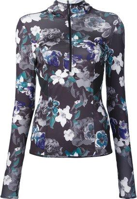 Adidas By Stella Mccartney dark blossom long sleeve hoodie $105.26 thestylecure.com