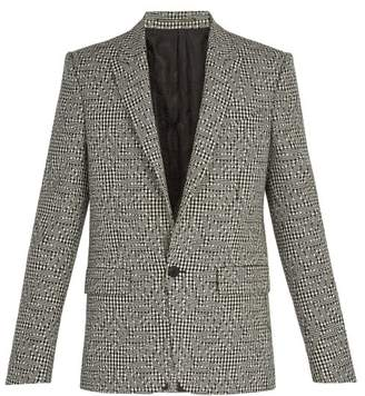 Givenchy Houndstooth Flower Wool Blazer - Mens - Black White