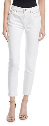 Ralph Lauren Collection 400 Matchstick Ankle Jeans, White $590 thestylecure.com