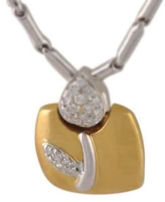Chimento 18K Yellow & White Gold Sentimenti D'oro Pendant Diamond Necklace