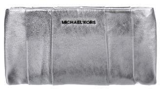 MICHAEL Michael Kors Metallic Leather Clutch