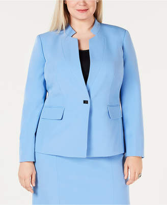 Kasper Plus Size Inverted-Collar Jacket