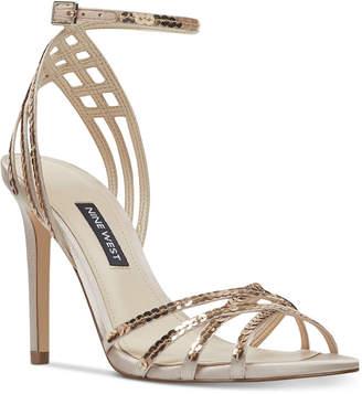Nine West Women Ivonne Strappy Evening Sandals Women Shoes