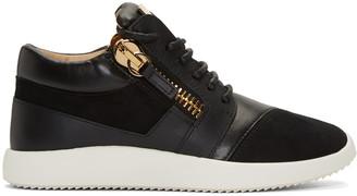 Giuseppe Zanotti Black Leather Sneakers $675 thestylecure.com