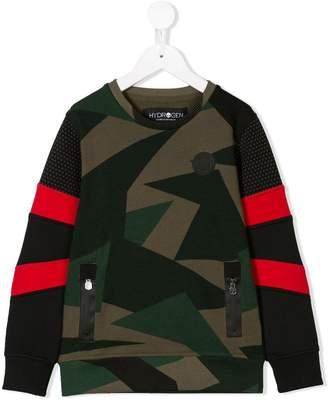 Hydrogen Kids camouflage printed sweater