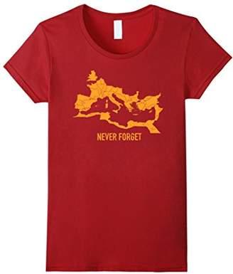 Distressed Roman Empire Map T-Shirt