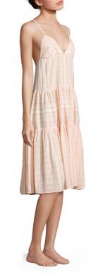 Mara Hoffman Cotton Blend Tiered Dress $195 thestylecure.com