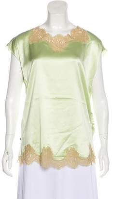 Dolce & Gabbana Sleeveless Lace-Trimmed Top