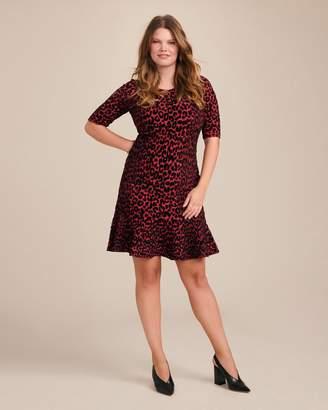 Milly Textured Cheetah Mermaid Dress