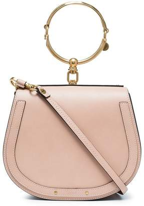 Chloé Beige Nile large leather bracelet bag