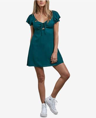 Volcom Juniors' It's A Cinch Printed Empire-Waist Dress