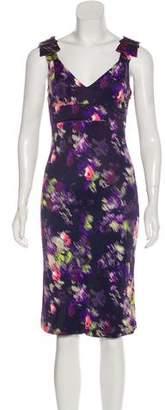 Gianni Versace Digital Print Midi Dress