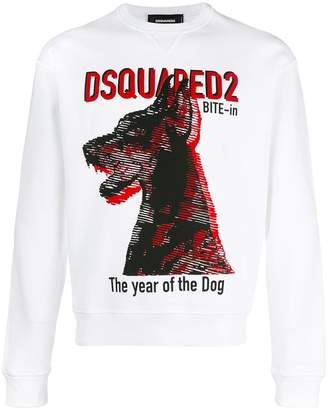 DSQUARED2 The Year of the Dog print sweatshirt