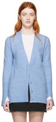 3.1 Phillip Lim Blue Side Slit Lofty Cardigan