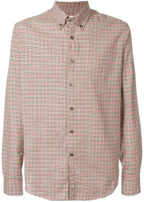 Etro check button down collar shirt