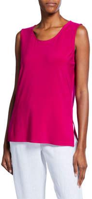 Caroline Rose Plus Size Sleeveless Long Stretch Knit Tank