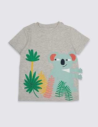 Marks and Spencer Cotton Rich Koala T-Shirt (3 Months - 7 Years)