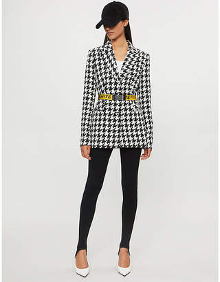 Off-White Houndstooth wool-blend jacket