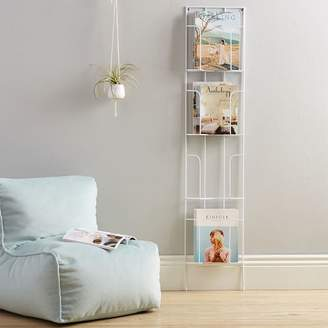 Pottery Barn Teen Wall Leaning Wire Magazine Rack, White