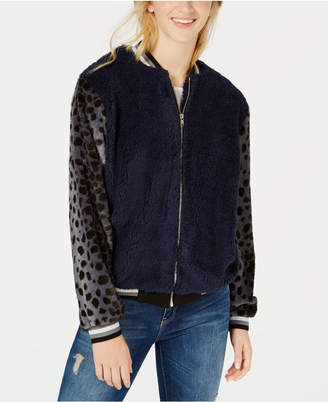 Gypsies & Moondust Juniors' Faux-Fur Bomber Jacket