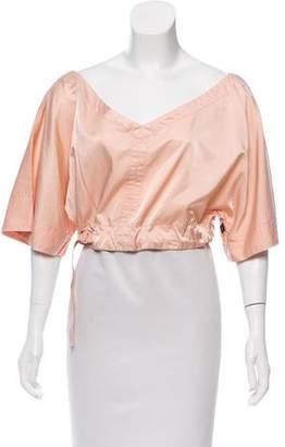 Jean Paul Gaultier Short Sleeve Crop Top