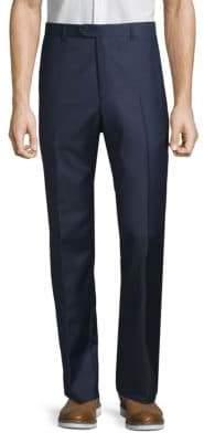 Santorelli Flat-Front Wool Pants