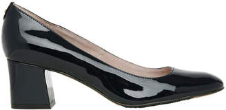 Basque Dorothy Navy Patent Pump