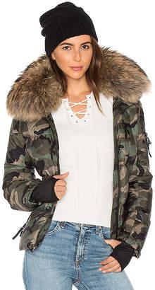 SAM. Camo Asiatic Raccoon Fur Freestyle Jacket
