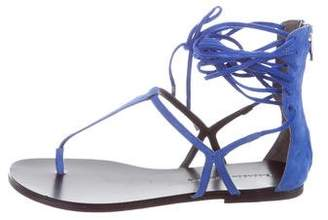 Sigerson Morrison Suede Lace-Up Sandals