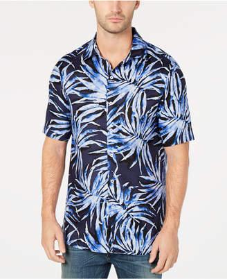 Tasso Elba Men Agua Palma Printed Shirt