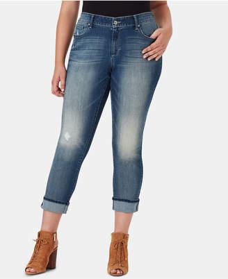 Jessica Simpson Juniors' Arrow Plus Size Straight-Leg Jeans
