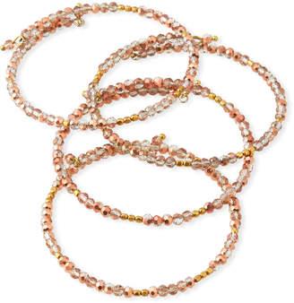 Panacea Copper Crystal Bracelets, Set of 4
