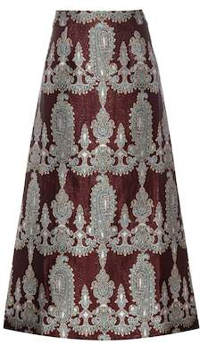 Alessandra Rich Printed silk-blend skirt
